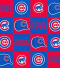 Chicago Cubs Fleece Fabric -Block