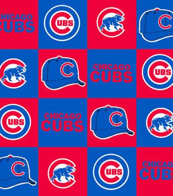 Chicago Cubs Fleece Fabric 58''-Block