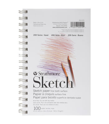 """Strathmore Student Sketch Pad 5.5""""X8.5"""" 100 Sheets"""