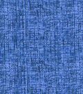 Keepsake Calico Glitter Cotton Fabric-Blue Crosshatch