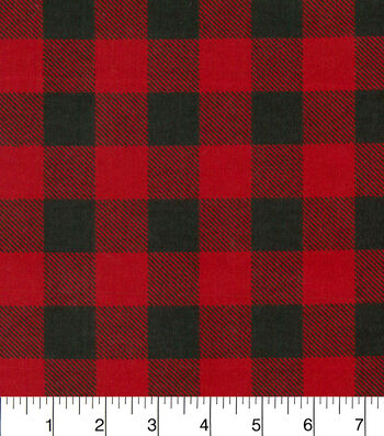 "Snuggle Flannel Fabric 42""-Red & Black Buffalo Check"