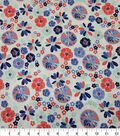 Quilter\u0027s Showcase Cotton Fabric-Large Flowers Pinwheel Teal Red