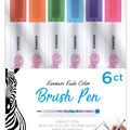 Zebra Brush Pen Super Fine 6pk