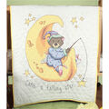 Fairway Stamped Baby Quilt Top Catch A Falling Star