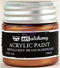Prima Marketing Art Alchemy 1.7 oz. Acrylic Paint-Metallique Brass