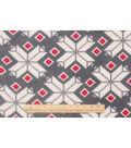Anti-Pill Fleece Fabric 59\u0022-Knit Snowflake Gray