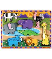 Melissa & Doug Safari Chunky Puzzle, , hi-res