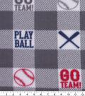 Blizzard Fleece Fabric-Play Ball Buffalo Check
