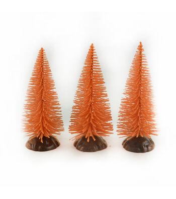 Maker's Halloween Littles 3 pk Trees-Orange