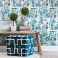 York Wallcoverings Wallpaper-Blue Aztec