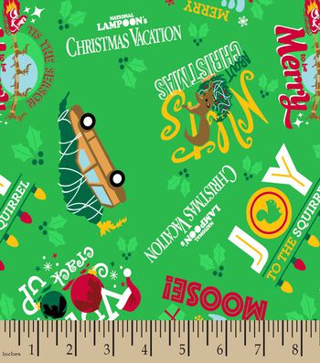 National Lampoon's Christmas Vacation Print Fabric