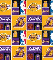 LA Lakers Cotton Fabric -Patch, , hi-res