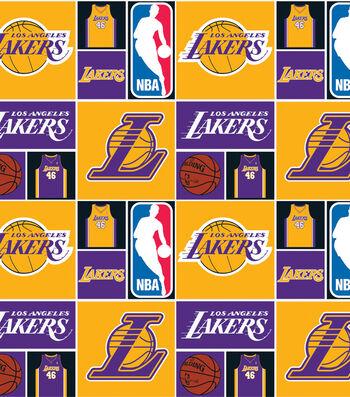 LA Lakers Cotton Fabric -Patch