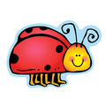 Colorful Cut Outs Ladybugs Assorted Designs 36/pk, Set of 6 Packs