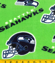 "Seattle Seahawks Fleece Fabric 58""-Green, , hi-res"