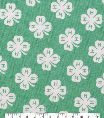 4-H Cotton Fabric-Emblem