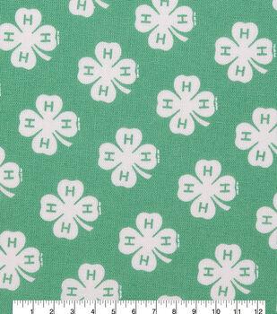 4-H Cotton Fabric-Emblem