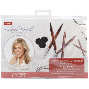 Deborah Norville Interchangeable Knitting Set-Sizes 4, 5 & 6