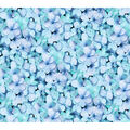 Keepsake Calico Cotton Fabric-Teal Photoreal Petals