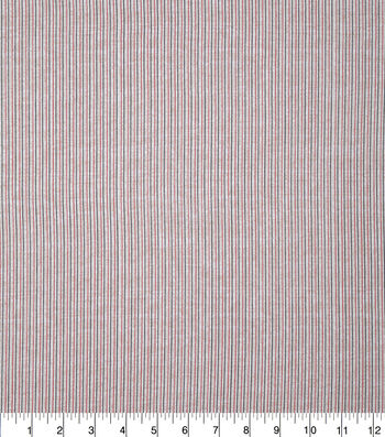 Patriotic Cotton Fabric-Mini Pin Stripe on Cream
