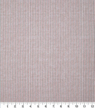 Patriotic Cotton Fabric-Mini Pin Stripe on Cream