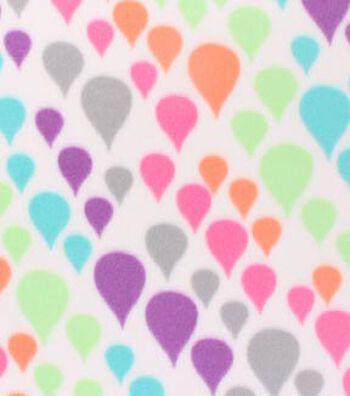 """Blizzard Fleece Fabric 59""""-Colorful Rain Drops"""