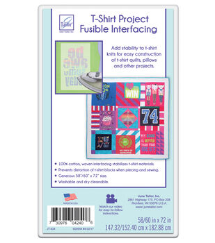 June Tailor Quilt 101 T-Shirt Project Fusible Interfacing