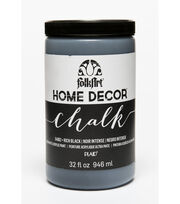 Folkart Home Decor Chalk 32oz-Rich Black, , hi-res