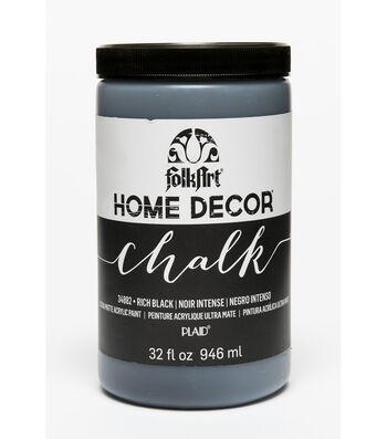 Folkart Home Decor Chalk 32oz-Rich Black
