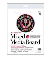 "Strathmore Mixed Media Board Vellum 11""X14"" 4/Pkg-, , hi-res"