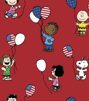 Patriotic Cotton Fabric -Snoopy & Friends