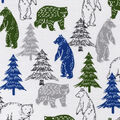 Snuggle Flannel Fabric -Blue & Green Sketched Bears