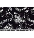 Keepsake Calico Cotton Fabric-Pretty Birds On Black
