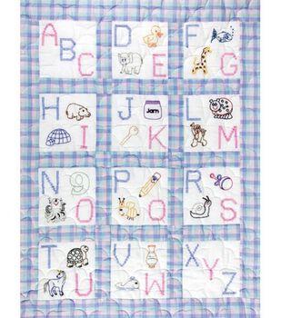 "Jack Dempsey Stmpd Nursery Quilt Blocks 9""X9""-ABC"