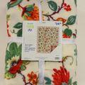No Sew Fleece Throw-Autumn Floral Plaid