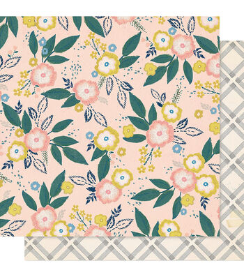 """Maggie Holmes Willow Lane Double-Sided Cardstock 12""""X12""""-Blossom"""