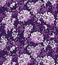 Premium Quilt Cotton Fabric -Packed Floral Purple