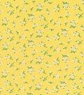 Doodles Juvenile Apparel Fabric 53\u0022-Yellow Ditsy Floral Rayon