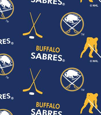 "Buffalo Sabres Fleece Fabric 60""-Tossed"