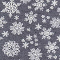 Luxe Flannel Fabric -Snowflakes Gray Heather