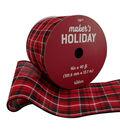 Maker\u0027s Holiday Christmas Ribbon 4\u0027\u0027x40\u0027-Red, Black & White Plaid