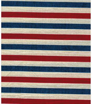 """Patriotic Cotton Fabric 43""""-Textured Stripe"""