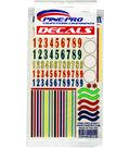 Pine Car Derby 5\u0022X8.5\u0022 Decal-Numbers & Stripes