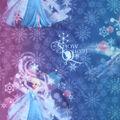 Disney Frozen Sheer Fabric -Snow Queen