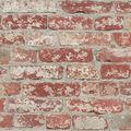York Wallcoverings Wallpaper-Stuccoed Dark Red Brick