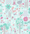 Snuggle Flannel Fabric -Woodland Animals