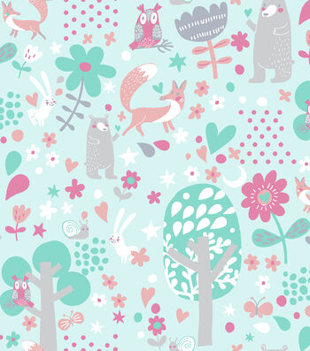 Snuggle Flannel Fabric 42''-Woodland Animals