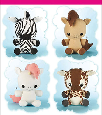 Simplicity Patterns Us8034Os-Simplicity Animal Stuffies-One Size