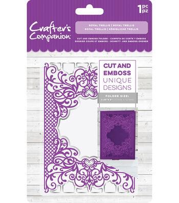 Crafter's Companion 4.25''x5'' Cut & Emboss Folder-Royal Trellis