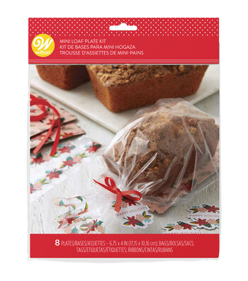Wilton 8ct Mini Loaf Kit-Holiday Floral